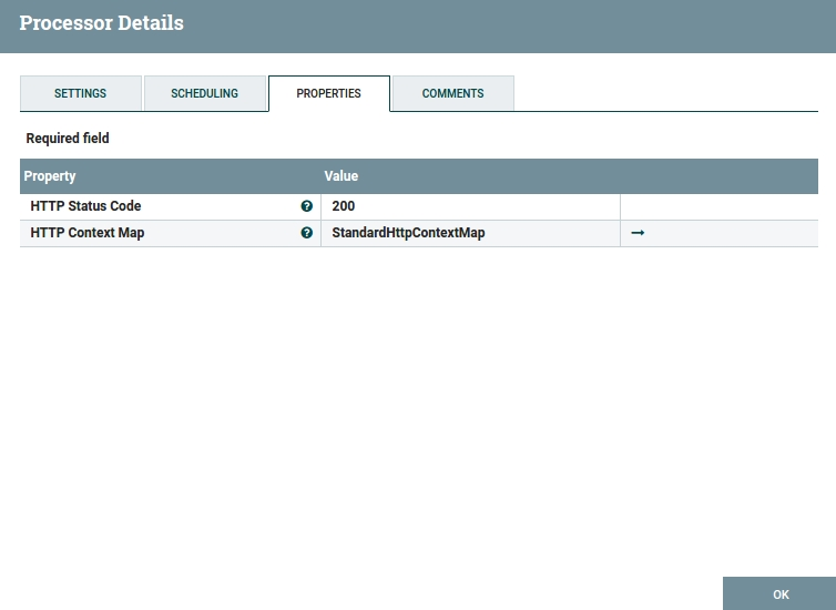 'Success' HandleHttpResponse Configuration Window
